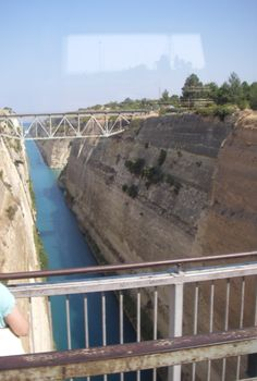 Crossing the amazing Corinth Canal - started in the Roman era (by Nero)! such fore-thought!  ©photo by jadoretotravel