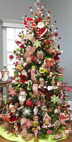 Shabby in love: Christmas tree decorating ideas