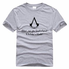 >> Click to Buy << Pure Cotton Round Collar T-shirt Assassins Creed Altair PS3 PSP Game Men T-shirt Short Sleeve White Grey Casual Tees Men Tops #Affiliate