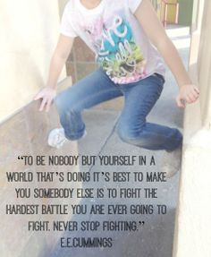 The Hardest Battle - Hanging on to YOU. How do you hang on to who YOU are when the world/media wants to turn you into something you aren't? www.sarahmarkley.cm