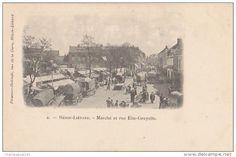 CPA 62 HENIN LIETARD Rue Elie Gruyelle Un Jour De Marché 1904 - France