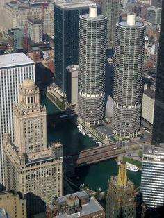 Chicago Skyline - Marina Towers