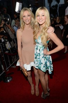 "Heather Locklear and daugher Ava Zambora arrive for the premiere of Dimension Films' ""Scary Movie 5"" at ArcLight Cinemas Cinerama Dome on April 11, 2013 in Hollywood, California."