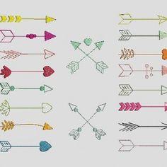 fleches colorées