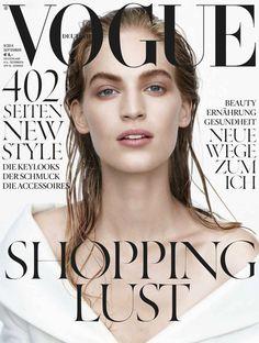 Vanessa Axente, photo by Daniel Jackson, Vogue Germany, September 2014 *