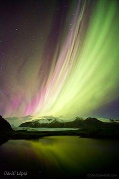Aurora boreal. Hali (Islandia). Astrofotógrafo Daniel López (elcielodecanarias.com).