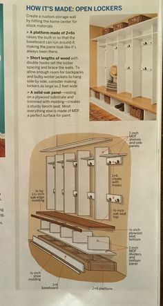 These DIY lockers would be great for a mud room!