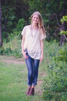 Casual Day Top ~ Oatmeal available at J. Lilly's Boutique or jlillysboutique.com