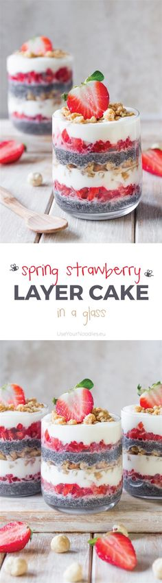 This light and fresh strawberry layer cake is a perfect healthy indulgence for the sunny spring days! This no-bake dessert is inspired by traditional Slovenian dessert prekmurska gibanica.