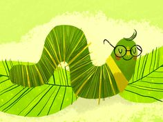 worm by Melanie Matthews This worm illustration is too cute!