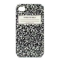 #katespade | composition notebook iphone 4 case