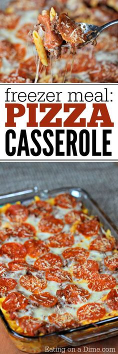 This easy pizza casserole recipe is a family pleaser! An Easy casserole recipe. … This easy pizza casserole recipe is a family pleaser! An Easy casserole recipe. Plus this pizza pasta casserole is an easy freezer meal. Try it today! Pizza Casserole, Easy Casserole Recipes, Casserole Dishes, Easy Freezer Meals, Freezer Cooking, Pasta Dishes, Food Dishes, Pasta Sauces, Main Dishes