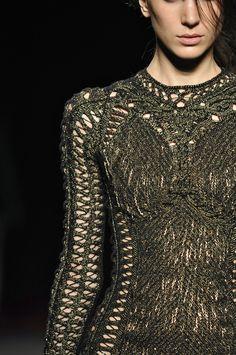 lace look in sweaters...Julien McDonald FW13/14 London Fashion Week