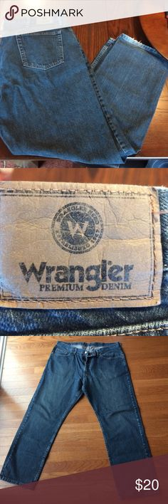 Wrangler blue jeans Blue jeans, excellent condition, no holes, great price. Hard to find Wrangler Jeans Bootcut