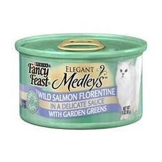 Fancy Feast Elegant Medleys Wild Salmon Florentine with Garden Greens 243oz cans * Check out the image by visiting the link. (This is an affiliate link and I receive a commission for the sales)