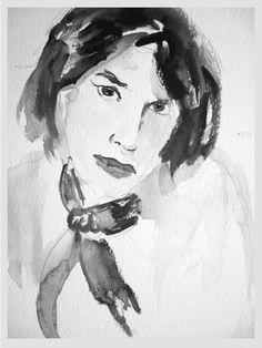Watercolor Portrait by Lefteris Koulonis Payne's Grey series