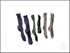 fr - reproduction procédé giclée 'Six Socks, par Miles Thistlethwaite Framed Artwork, Wall Art, All Poster, Print Poster, Tropical Art, Reproduction, Contemporary Artists, Find Art, Custom Framing