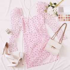 To find out about the Double Crazy Gigot Sleeve Glitter Mesh Overlay Dress at SHEIN, part of our latest Dresses ready to shop online today! Cute Comfy Outfits, Casual Fall Outfits, Girly Outfits, Pretty Outfits, Stylish Outfits, Girls Fashion Clothes, Teen Fashion Outfits, Girl Fashion, Ropa Color Pastel