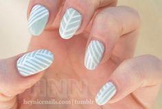 stripes nail polish. Nails.