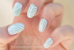 White and Light Nails!