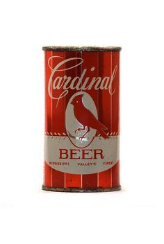 Cardinal beer. From the test shoot for the book, Beer: A Genuine Collection of Cans. #Cardinals