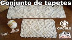 Conjunto de tapetes de crochê para cozinha - Fran Aluap Tapete passadeir...