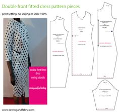 free sewing pattern for plus size women and a step by step sewing tutorial.