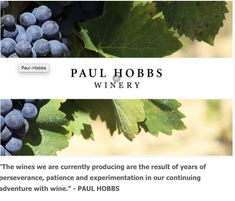"""""""The wines we are currently producing are the result of years of perseverance, patience and experimentation in our continuing adventure with wine."""" - PAUL HOBBS  Stop in and shop or shop online at www.michaelswinecellar.com"""