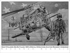 3/BN 160th SOAR(A) Black Hawk Savannah, $75.00