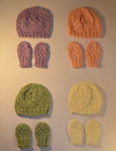 BABY HAT & MITTENS Newborn 0 to 6 months Soft by heatherrainbow