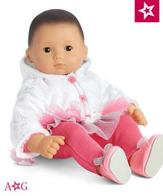 Bitty Baby will sparkle like a fresh snowfall in this warm, snuggly set. $28