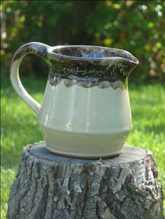 Stoneware pitcher by Shelley Duncan