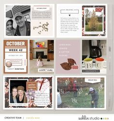 Hello Fall Digital Scrapbooking Project Life page using Autumn Stories | Journal Cards by Sahlin Studio