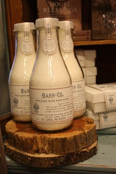 Barr-Co Bath Salts.  Recently got this at the most lovely shoppe in Chattanooga, TN!  http://www.sophiesshoppe.com/