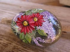 Painted Rock, Garden Rock, California Beach Rock, Handpainted, Home Decor via Etsy