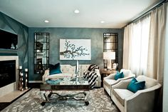 Here are 40 Elegant Contemporary Living Rooms. Contemporary living room furniture sets ideas and design. Living room lighting, decoration, sofa designs, and . Art Deco Living Room, My Living Room, Living Room Designs, Living Room Furniture, Living Spaces, Sofa Set Designs, Deco Baroque, Baroque Decor, Room Colors