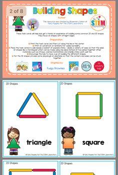 Kindergarten Stem, Preschool Learning Activities, Preschool Classroom, Shape Activities, Teaching Shapes, Teaching Math, Maths, Teaching Ideas, Head Start Classroom