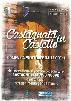 Domenica 25 ottobre 2015 è in programma la Castagnata in Castello a Padenghe sul Garda @gardaconcierge