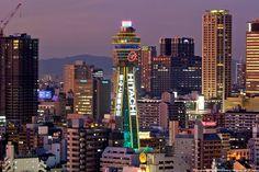大阪 通天閣 光 #Osaka #Japan #light osaka Japan light