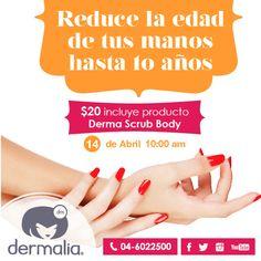 Tus manos son muy valiosas, no las descuides!! Mañana te invitamos al taller: Reduce la edad de tus manos hasta 10 años a las 10am. Tiene un costo de $20 y te llevas un scrub body de chocolate. Inscríbete YA!! #manos #taller #scrub #cuidado #belleza #estética #cosmetologa #facial #corporal #spa #relax #mujer #salud #aparatologia #consejo #tips #maquillaje #dermalia #centroestetico #guayaquil #ecuador #allyouneedisdermalia #ilovedermalia #dermaliatips #tubellezanuestraespecialidad