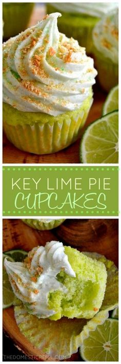These sweet and tart Key Lime Pie Cupcakes are packed with juicy key lime flavor and a sweet graham cracker sprinkle. They taste exactly like zesty key lime pie but in cupcake form!: