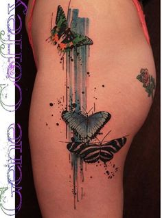 Gene Coffey butterfly tattoo