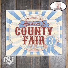 County Fair Welcome Sign  Country Fair Welcome by frostingandink