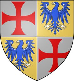 Robert IV de Sablé (1150 − 23 Sep 1193) was Lord of Sablé, the 11th Grand Master of the Knights Templar from 1191 to 1192 and Lord of Cyprus from 1191 to 1192. He was one of the chosen leaders of the Crusading Fleet of Richard I that departed from Dartmouth in the spring of 1190. My Ancestors, The Grandmaster, Knights Templar, Family Crest, Crests, Assassins Creed, Les Oeuvres, Maine, Arms
