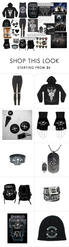 """""""Avenged Sevenfold"""" by xfallencreature ❤ liked on Polyvore featuring Topshop, music, bands and avengedsevenfold"""