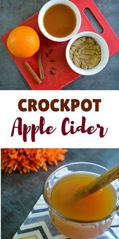 Easy crockpot apple cider recipe perfect for Fall. Easy crockpot apple cider recipe perfect for Fall. Slow Cooker Desserts, Slow Cooker Recipes, Crockpot Recipes, Cooking Recipes, Crockpot Dishes, Cooking Ideas, Delicious Recipes, Crockpot Apple Cider, Hot Apple Cider