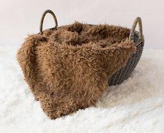 "Faux Flokati Fur Chocolate Brown  Baby Photo by SweetBabyJamesShop  Sizes 18"" x 20"" $14.99 18"" x 30 $17.99"
