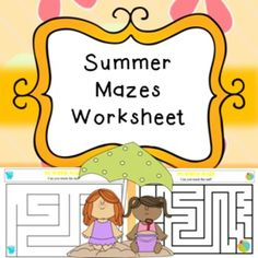 Summer Mazes Games Activities Printables No Prep, Early FinishersIncludes;easy mazes (6 pages)harder mazes (6 pages)This product is included in my Giant Summer bundle found here****************************************************************************If you purchase this product I would very much appreciate you coming back to this page at one point to leave some feedback, this will also help you to gain extra credits! :)If you like my products please follow me, when posting new products i…