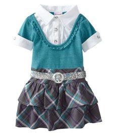 "Nannette Girls 1 Pieced Belt Dress - Size 2T -""Watch Me Grow"" NWT Toddler Girl #Nannette #Everyday"