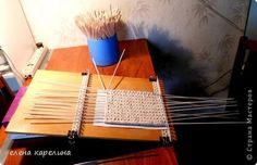 Мастер-класс Поделка изделие Плетение СТАНОК ДЛЯ ПЛЕТЕНИЯ КВАДРАТНОГО ДНА Трубочки бумажные фото 6